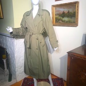 London Fog Double Breasted Belted Trench Coat